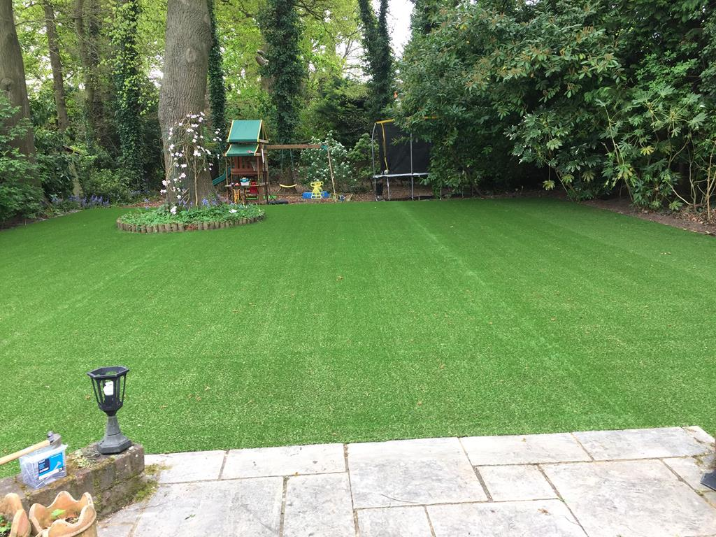 Artificial Grass installation by LDC Turf and Irrigation at Weybridge in Surrey 20